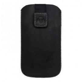 Vyťahovacie koženkové puzdro, veľkosť M, čierna