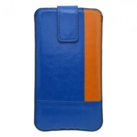 Koženková vsuvka, veľkosť 2XL, modrá (oranžový kraj)