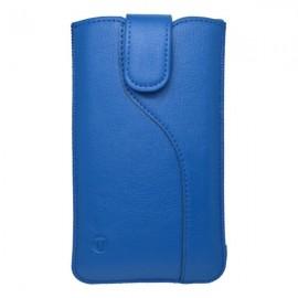 Koženková vsuvka s vyťahovaním, SL, modrá