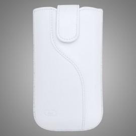Univerzálne koženkové puzdro SL, biele