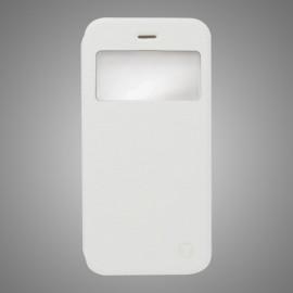 Knižkové puzdro bočné iPhone 6 s okienkom, biele