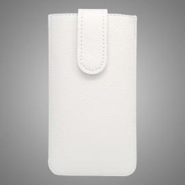 Kožená vsuvka iPhone 6, biela