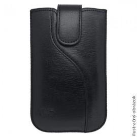 Univerzálne koženkové puzdro, 2XL, čierne