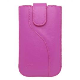 Univerzálne koženkové puzdro XL, ružové