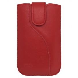 Univerzálne koženkové puzdro XL, červené