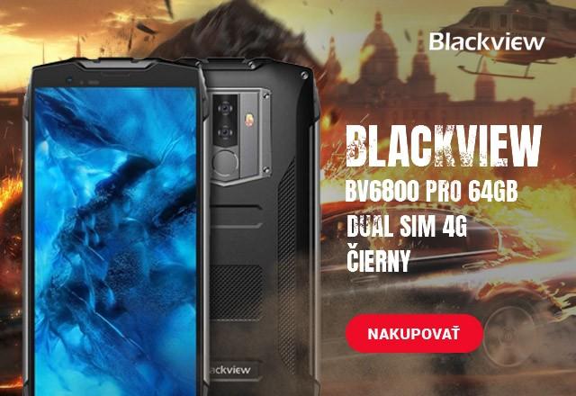 Blackview BV6800 Pro 64GB Dual Sim 4G, čierny